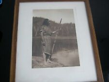 1915 Edward S Curtis THE WHALER Signed Proof  Photograph Plate 394 Photogravure