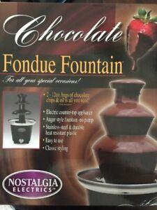 CHOCOLATE FONDUE FOUNTAIN NOSTALGIA ELECTRONICS NEW IN THE BOX