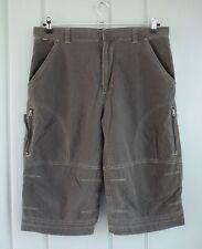Kuhl Dry Mens 34 Brown Cargo Shorts Hiking Active Long Evaporative Comfort Flat