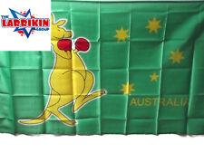 New Australia Flag, Green With Yellow Boxing Kangaroo 150cms X 90cms Polyester
