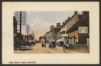 Buckinghamshire. Fenny Stratford. High Street. 1910 Colour Tinted Postcard