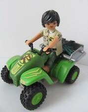 Playmobil dinosaur/adventure figure: Explorer and pull back & go quad bike NEW