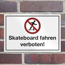 """WANDKINGS Sicherheitsschild """"Skateboard fahren verboten!"""" Privat Sicherheit"""