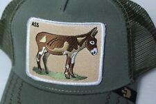 Goorin Brothers Animal Farm Hat Donkey Olive Ball Cap Soft Mesh NWT
