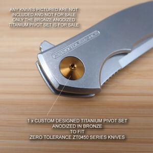 Zero Tolerance ZT0450G10 ZT0450 0450CFZDP Custom Titanium Pivot Anodized BRONZE