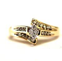 14k yellow gold .28ct SI2 H ladies round diamond engagement ring 4.9g vintage