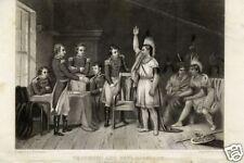 1848= CAPO TECUMSEH e Gen. HARRISON= Antica Incisione