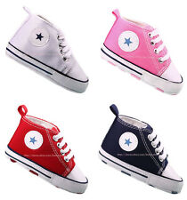 Infant Baby Boy Girl First Crib Shoes Infant Canvas Sneakers Newborn to 18Months