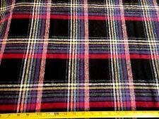 "Large Plaid Check Wool Fabric Apparel Wool 1.19  Yd L x 68"" W"