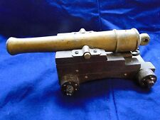 CANON, BRASS AND WOOD, MINIATURE, WELL MADE, C 1900, OLD CONTRUCTION