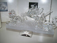 SWAROVSKI ANNUAL EDITIONS UNICORN 1996 DRAGON 1997 PEGASUS 1998  INCL PLAQUE MIB