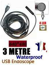 Endoscope USB colours and waterproof-cable 3 m-Mini DV camera spy with LED