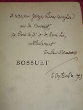 BOSSUET Emile Baumann avec envoi ! exemplaire sur Alpha numéroté