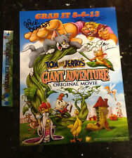 SDCC 2013 Tom & Jerry's Giant Adventure Map poster Signed Cast Warner Booth Excl