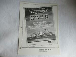 Case 4690 4490 4890 4WD tractor dealer print advertising MAT brochure 2