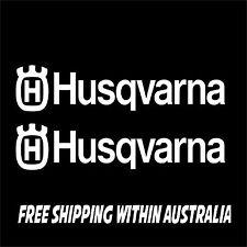 2x HUSQVARNA Sticker Decal Motocross bike boat car ute