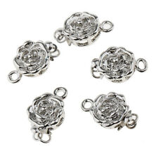 5pcs Bracelet Necklace Flower Clasp Buckle Connector Jewelry Making Findings