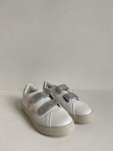 Veja Kids Small Esplar Strap Kids Extra White/Petale Silver size 33, US 2 $95