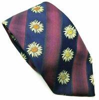 "FLORAL Folkespeare Men's Novelty Tie Striped Polyester 3.75"" Width 58"" Length"
