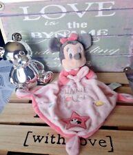 Doudou Minnie Mouse rose saumon étoiles Planètes Disney Baby Etat neuf + cadeau