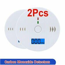 2pcs CO Carbon Monoxide Detector Poisoning Gas Audio Alert Tester Alarm Security