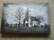 Billy Jacobs  Let Us Be Silent NEW Black and White canvas print Church 12-x20""