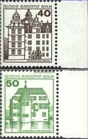 Berlin (West) 614A-615A Seitenrandstück (kompl.Ausg.) postfrisch 1980 Burgen und