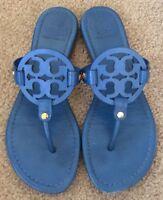 Tory Burch Cobalt Blue Miller Sandals Flip Flops Size 8 M Authentic