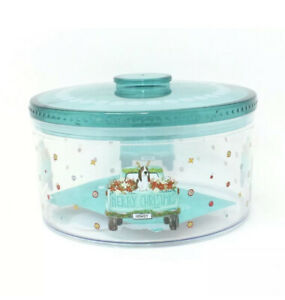 Pioneer Woman Christmas Cookie Container Truck Charlie Howdy Round Treat New