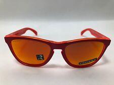 853c8df0d Óculos De Sol Oakley FROGSKINS Fosco Vermelho/Prizm Rubi OO9013-E055