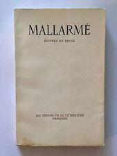 MALLARME OEUVRES EN PROSE 1946 N°46 TRESORS LITTERATURE FRANCAISE SKIRA JALOUX