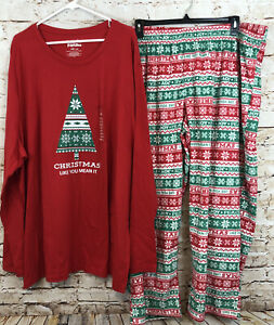 Jammies Families Mens 4XB Christmas Pajamas Set like you mean it New 4X BIG E2