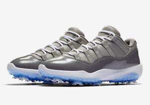 NIB RARE NIKE Jordan 11 XI Cool Grey Golf Shoes Mens Size 9.5 AQ0963-002 Tiger