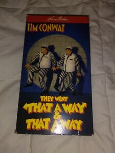 They Went That A Way & That Away (1968) VHS comedy Tim Conway Chuck McCann