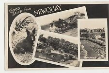 Good Luck from Newquay RP Postcard, A989