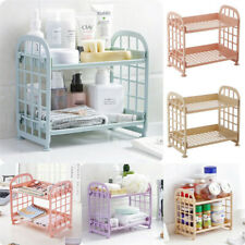 2 Layers Plastic Creative Storage Racks Organizer Shelf Rack Kitchen Bathroom