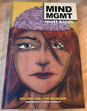 Mind MGMT Volume One: The Manager NEW HC / Hardcover Dark Horse