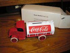 Rare Vintage Ertl 1926 Mack Bull Dog Coca Cola Delivery Tanker Bank Free Ship