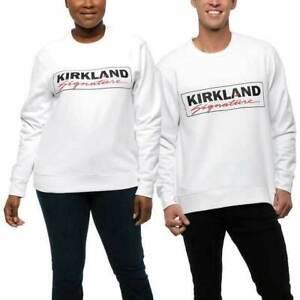 NWT! Kirkland Signature Unisex Logo Fleece Crewneck Sweatshirts