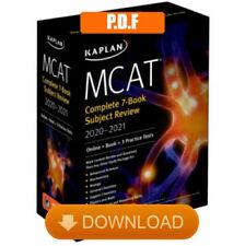 MCAT Complete Set 7 book Subject Review 2020-2021 [P.D.F]