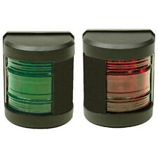 Pair of LED Classic Side Mount Red & Green Navigation Lights for Boats