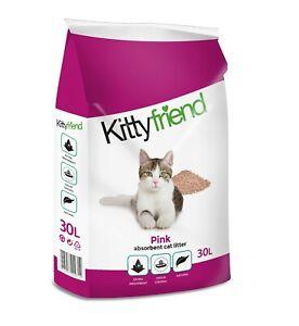Sanicat Pink Sophisticat Non Clumping Lightweight Absorbent Cat Litter 30ltr