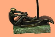 The Rower - Sculpture in 100% Pure Bronze by European Finery Handcrafted Figure