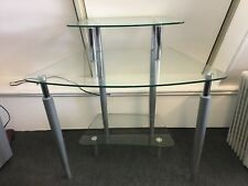 Glass Computer/PC Desk Table Work Station Study Office Furniture
