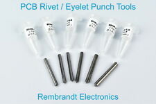 PCB Rivet / Eyelet Punch Tools for Rivets / Eyelets A, B, C, D, E and F (NL)