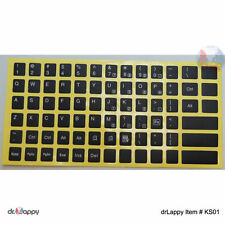 US English Keyboard Sticker White Letter Black Background for Computer Laptop