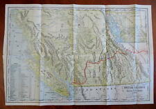 British Columbia Canada Vancouver Island Canadian Pacific Railway 1886 map