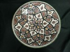 Vintage SAFI Moroccan Pottery Bowl Charger Handpainted Large 40cm diam. (7072)