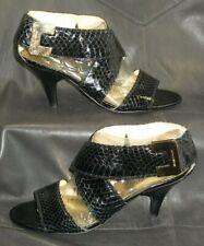 Michael Michael Kors black snake skin cross strap sandals Women's shoes size 6M