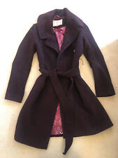 Ness Scotland Burgandy Coat UK 8